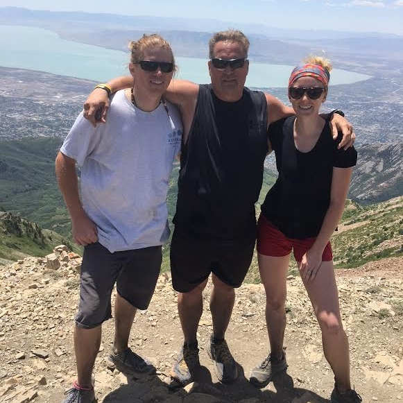 ::Spencer, Greg, and Ellie @ the saddle of Timp::