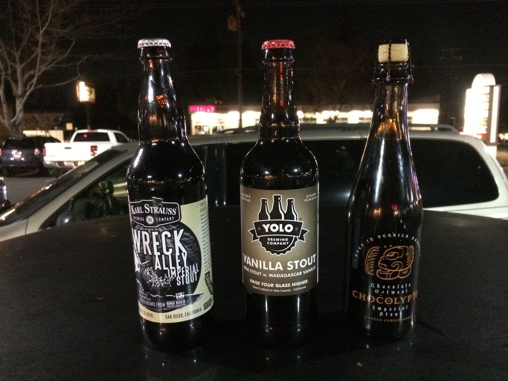 """""""How different could these be?"""" I thought to myself, and with them the Stoutcast was off and moving...after I took the beers off the roof of my car, of course. Photo by Bob Moffitt"""
