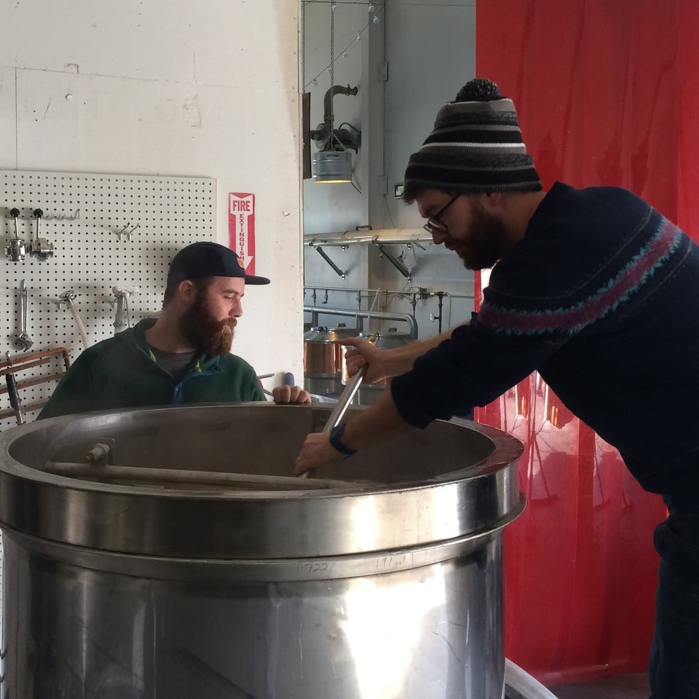 Dave and Ilya couldn't be more different: hats, sweaters, beards, and brewing inspirations. Photo by Bob Moffitt