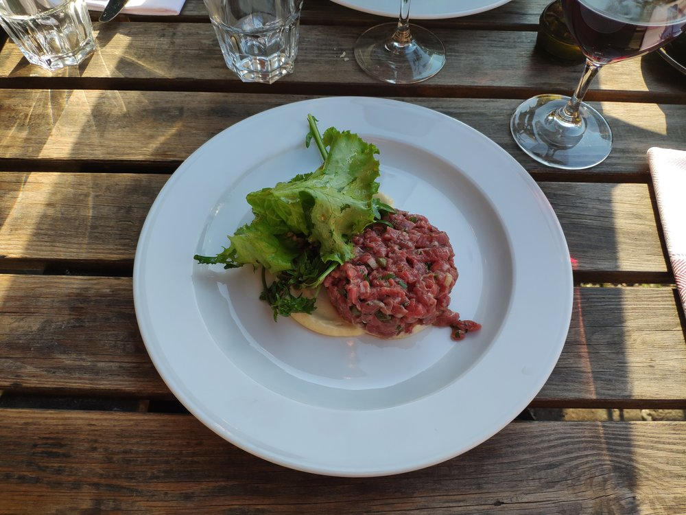 Non-AI enhanced Beef tartare