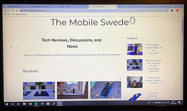 The Mobile Swede website just went through a major overhaul. The new design features a categorized main page to make browsing easier based on subjects. Check it out in the link in the bio, and let me hear the critique down in the comments 🙌 #themobileswede #webpage #workinprogress #blog #instatech #techreviews