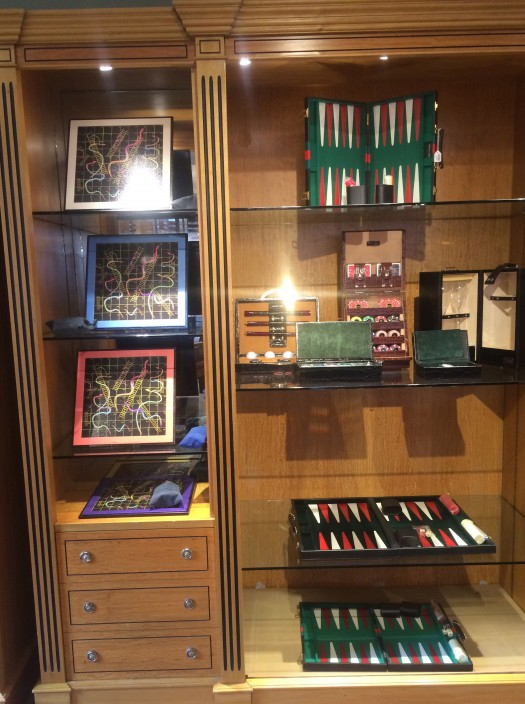 Simpson London display in Fortnum and Mason
