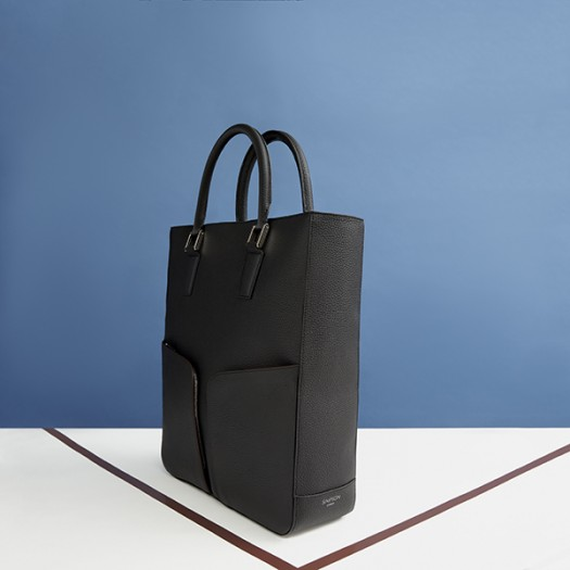 Zip Top Tote Bag in Black (FG00136101)