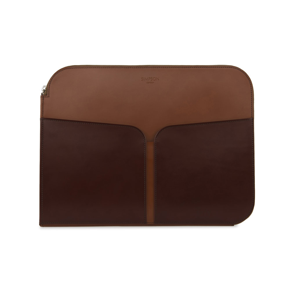 06c00624c Zip Round Folio - Hazel and Conker — Simpson London - Luxury Leather Goods  and Bespoke British Craftsmanship - Handcrafted in London