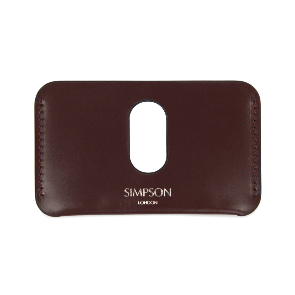 e738dd000b5362 Slotted Business Card Holder - Conker — Simpson London - Luxury Leather  Goods and Bespoke British Craftsmanship - Handcrafted in London