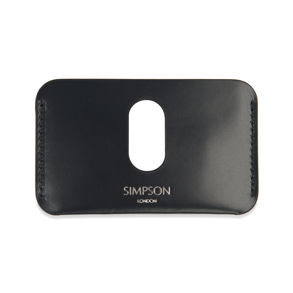 Slotted business card holder navy simpson london luxury slotted business card holder navy colourmoves