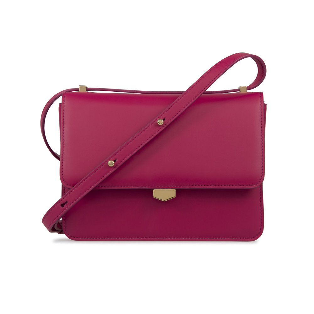 cdc78ce90 Classic Shoulder Bag - Fuchsia Pink — Simpson London - Luxury Leather Goods  and Bespoke British Craftsmanship - Handcrafted in London
