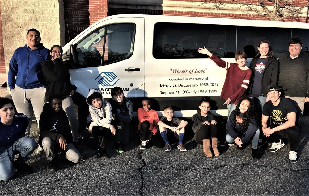 In February 2019, the Stephen M. O'Grady Foundation and the Delorenzo family teamed up to donated an 'almost new' van to the Boys & Girls Club of Greater Salem.