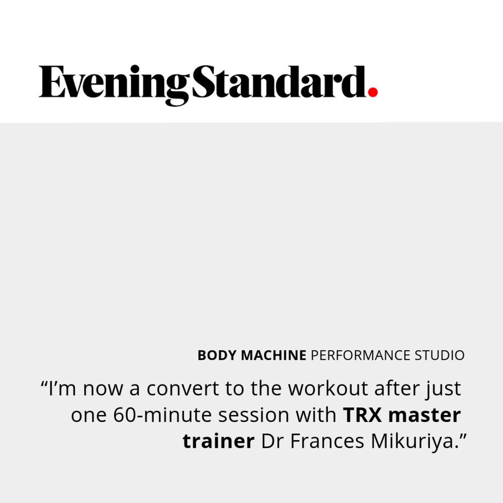 Evening Standard Review of Body Machine Performance Studio TRX Class Kensington London
