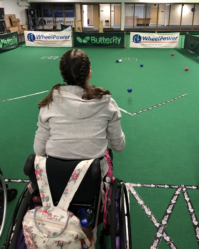 learning all about boccia at the get active event by wheelpower!