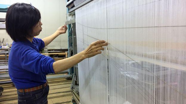 Responsibly sourced - Worker at Daiichi Orimono (Japan)