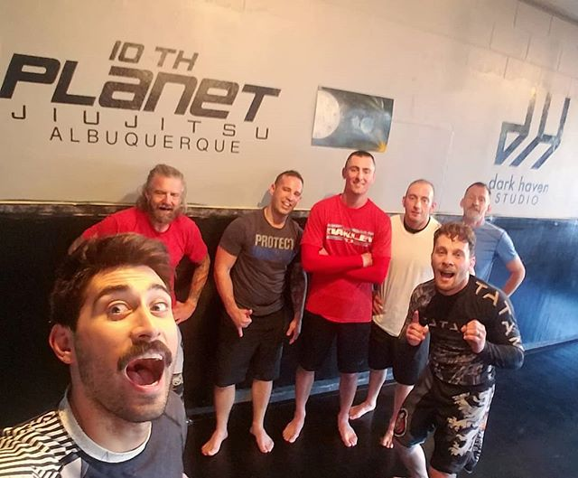 Shoutout to @donnie_karate10p for holding down the zombie fort this morning. . ZOMBIE SQUAD Mon | Wed 6-7 am . #darkhavenstudio #10pabq #jiujitsu #wrestling #submissiongrappling #muaythai #kickboxing #505 #burque #dukecityigers #enterthedarkness #growthandevolution