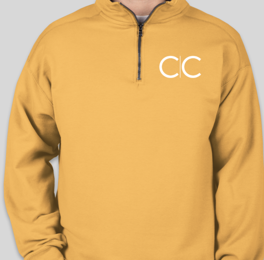 Gold Quarter Zip Pull Over  $37.00