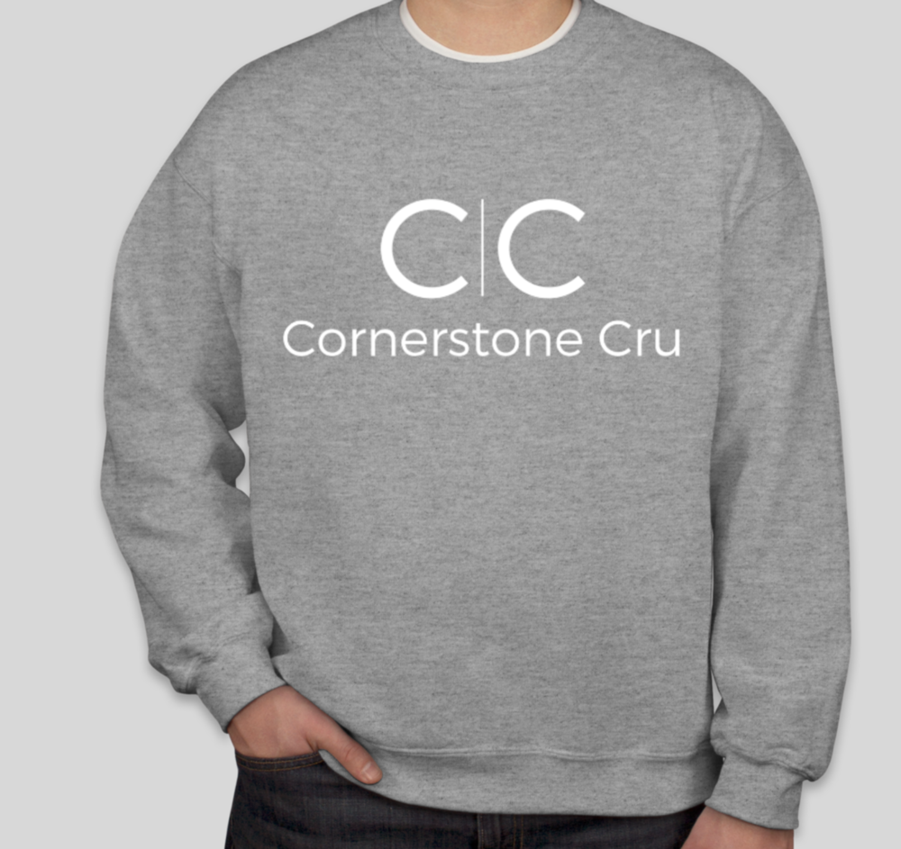 CC Full Logo Heather Grey Crew Neck Pullover  $19.00