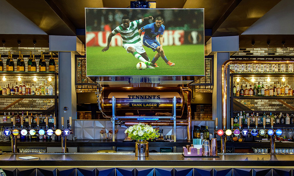 All the Action - We've stayed true to our roots. Live sport across our multiple screens and amazing custom-built viewing system.