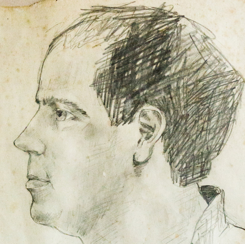 Peter (30 x 30cm. Pencil.)