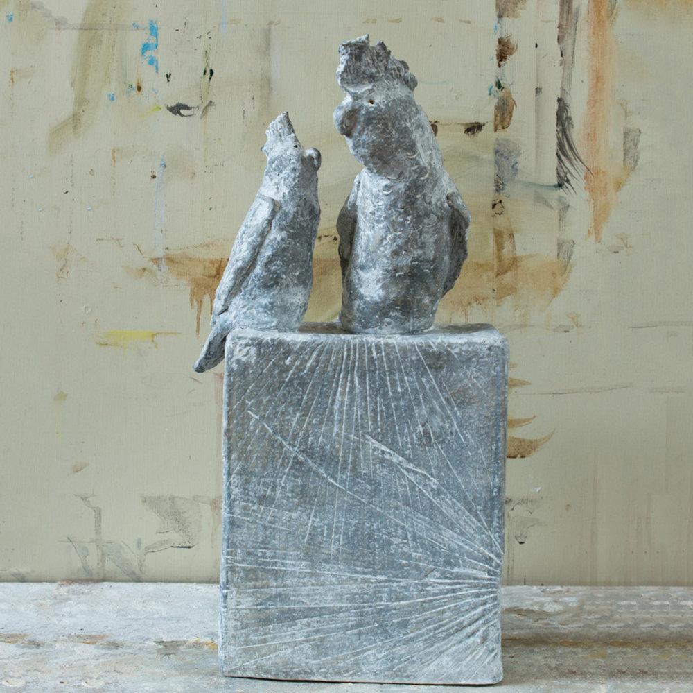 Shane & Tracy (30x20cm. Stoneware Clay.)