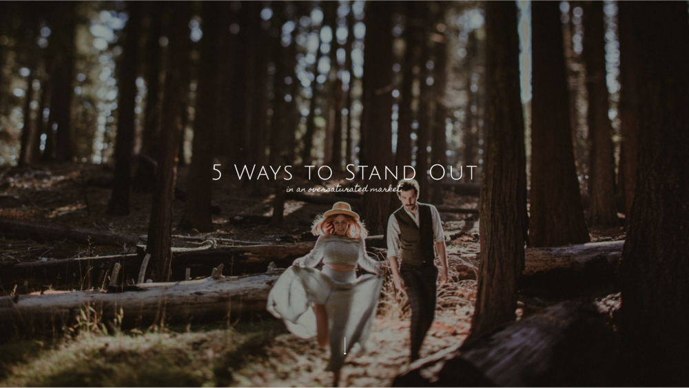 "Brandi Potter - In the last years, wedding photography has became more and more popular and it's getting harder to find your own voice in an oversaturated market. Brandi Potter has put together for you a free guide stating ""5 Ways to Stand Out""."