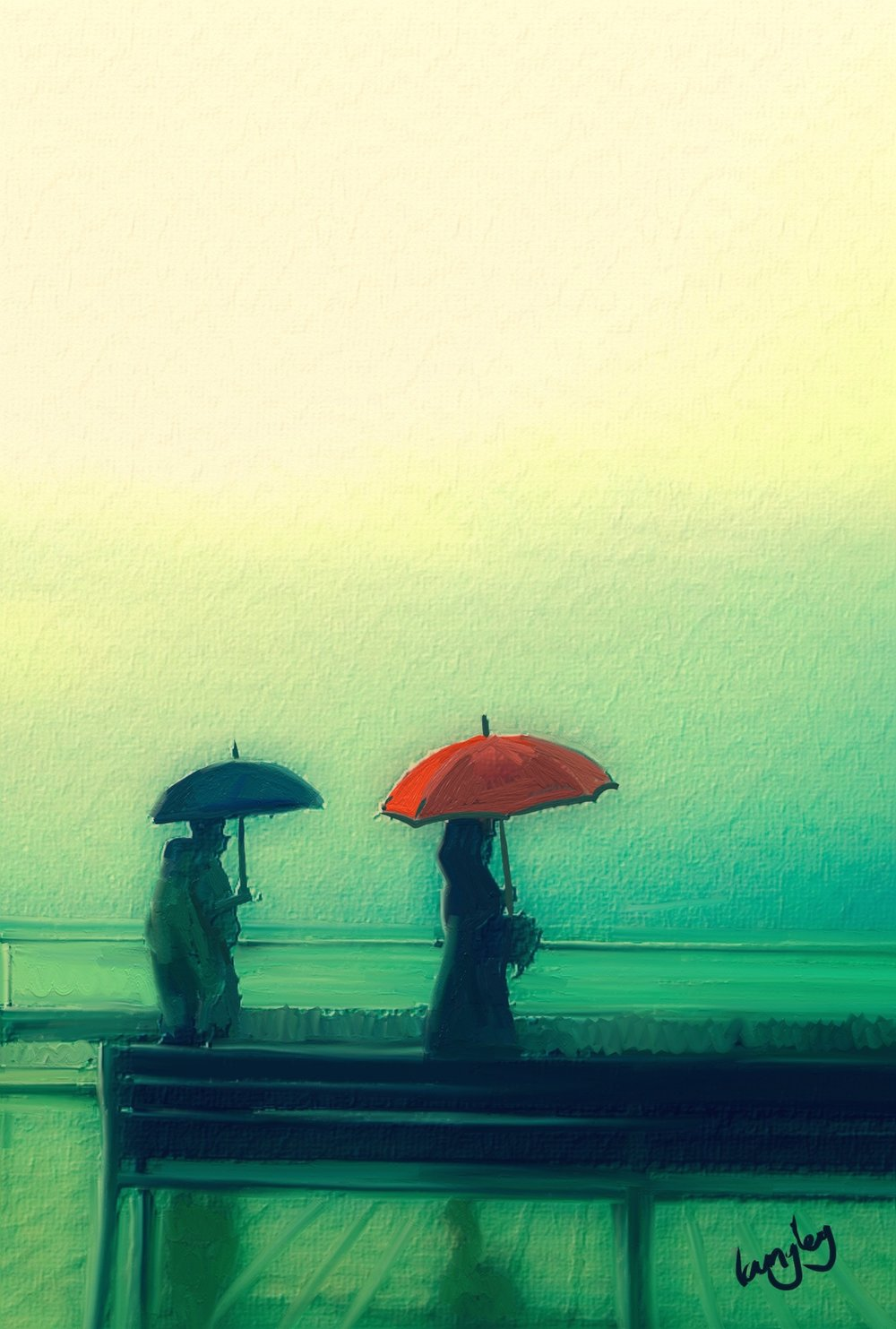 Two Umbrellas. Master canvas print. 23x16%22 Chosen as event poster for New York Exhibition.jpg