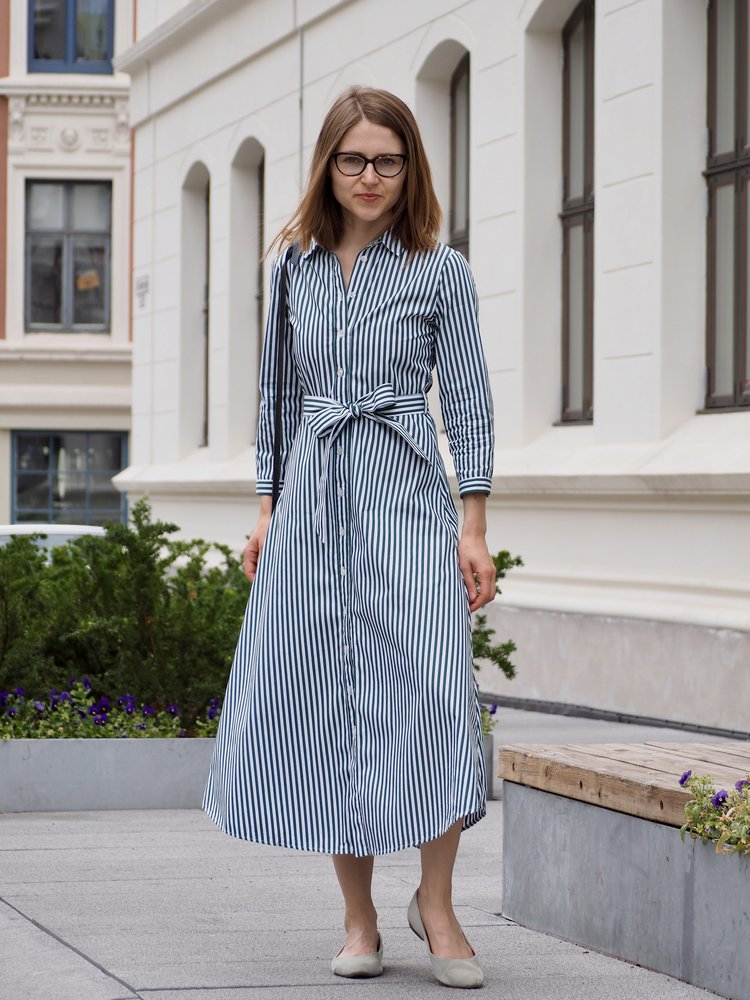 359d57722d97 Shirt Dress for Summer in the Office — Maria on Quality