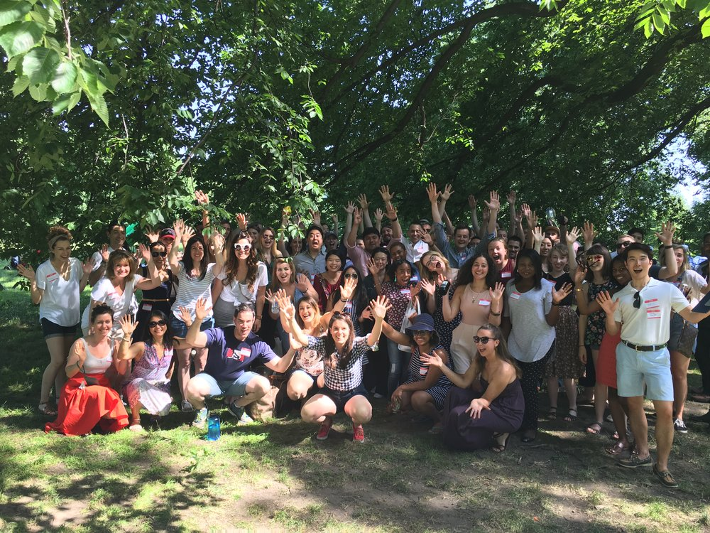 First group photo ever taken at our launch event in Central Park in June 2018. 80 people from 12+ churches!