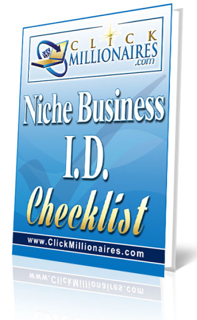 Niche Startup Business Identification Checklist Free Download