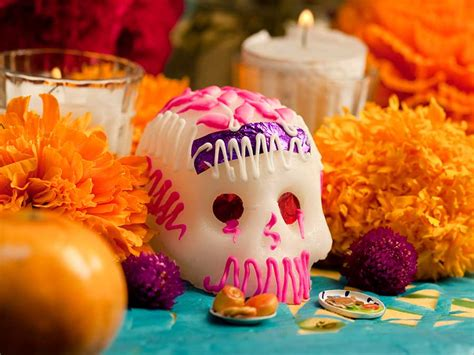 """Sugar skulls or """"calaveritas"""" are a staple on Day of the Dead altars"""