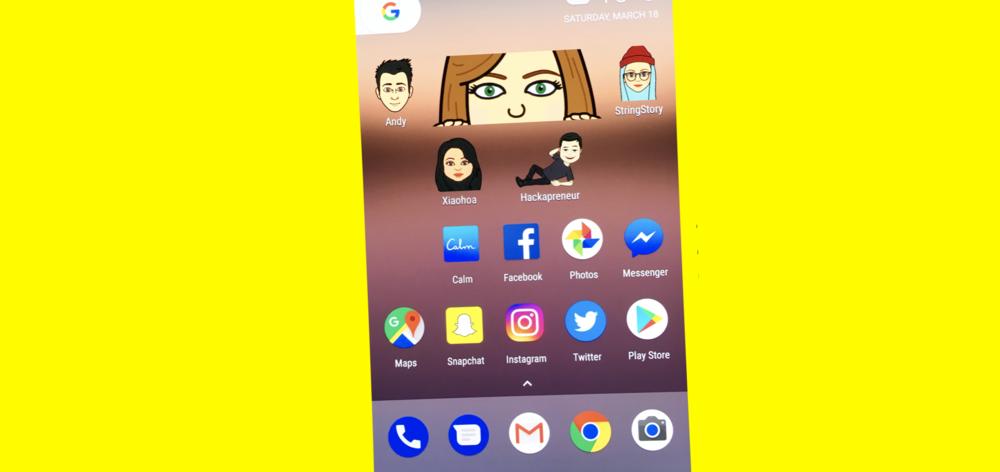 New Snapchat Bitmoji widget hits back at Facebook Messenger