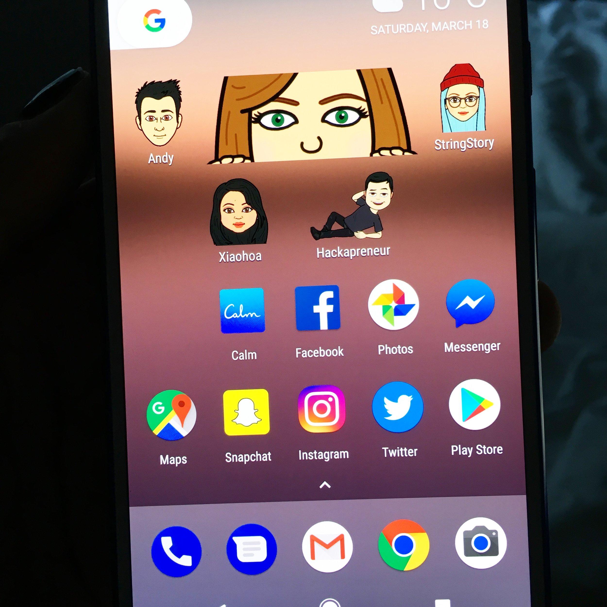Snapchat Bitmoji widget