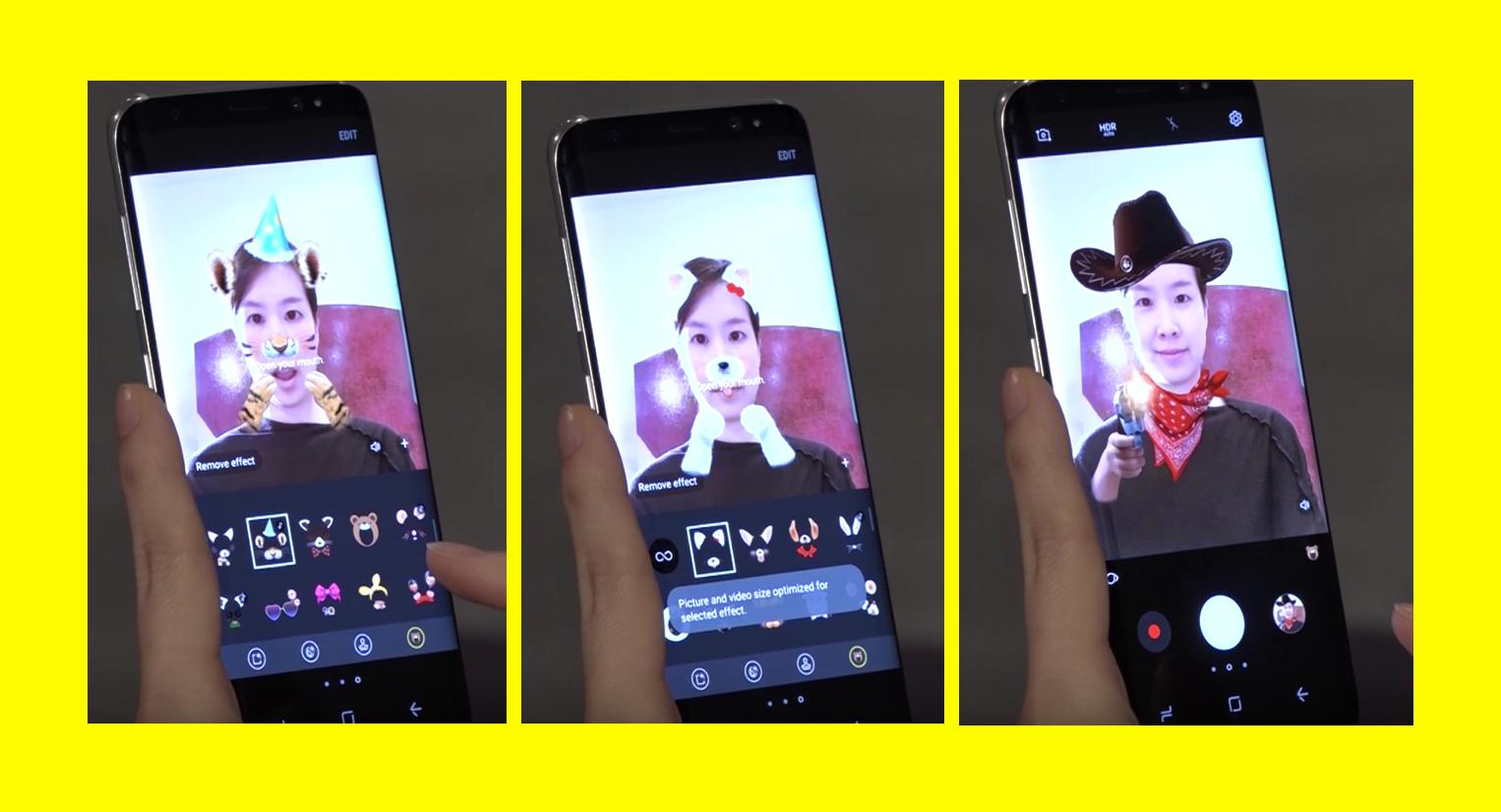 Samsung Galaxy S8 Snapchat