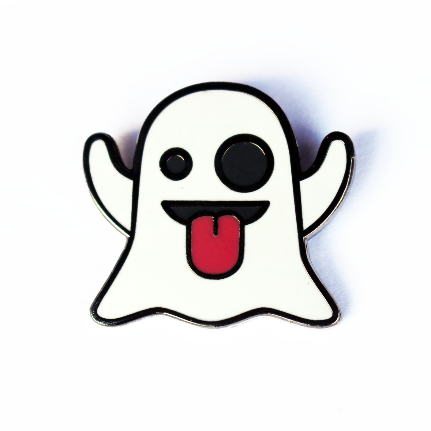 snapchat accessories ghost emoji pin