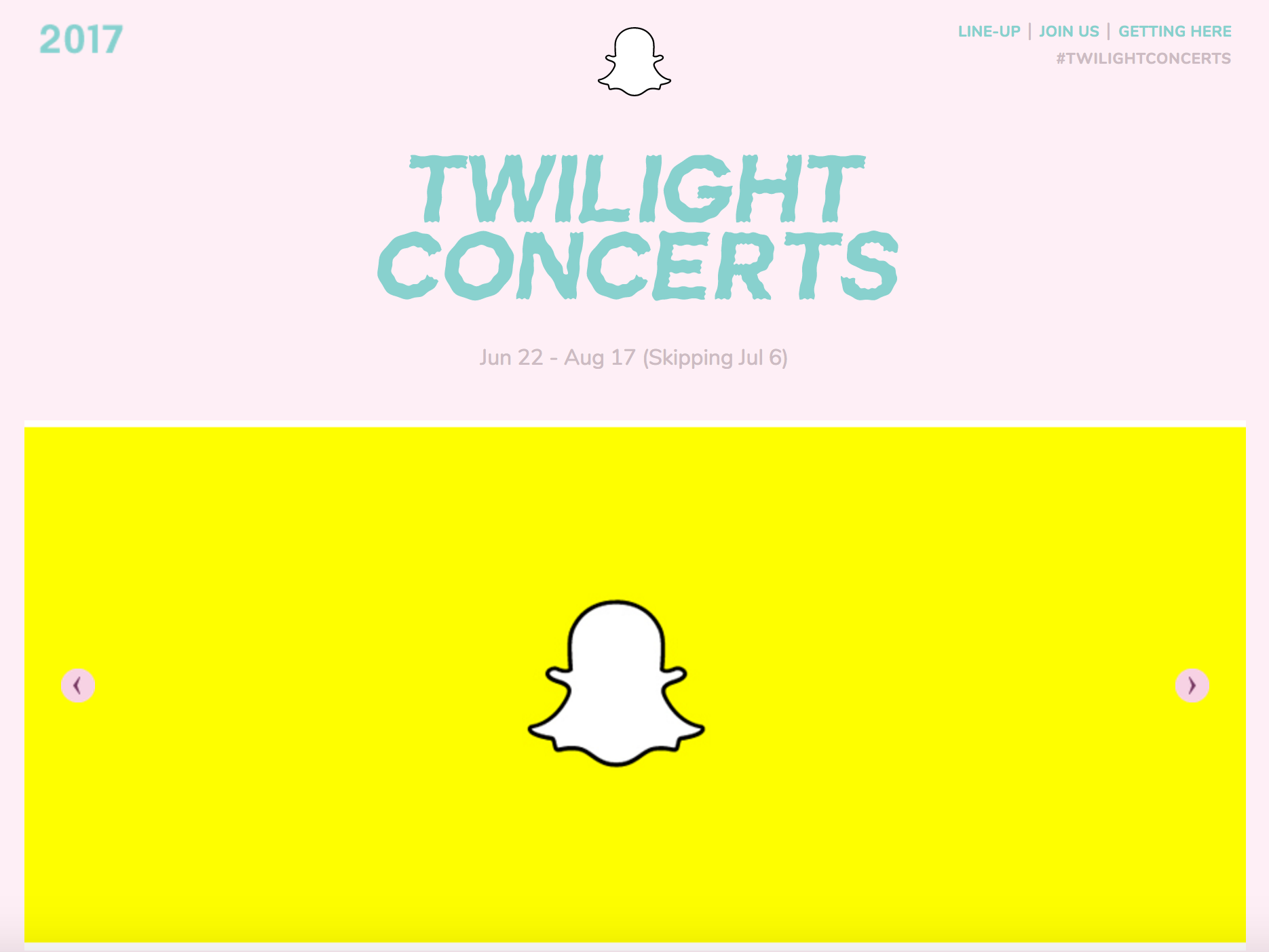 Snapchat twilight concerts