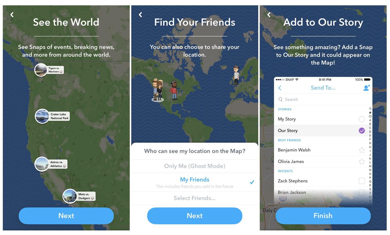 Snapchat Snap Map