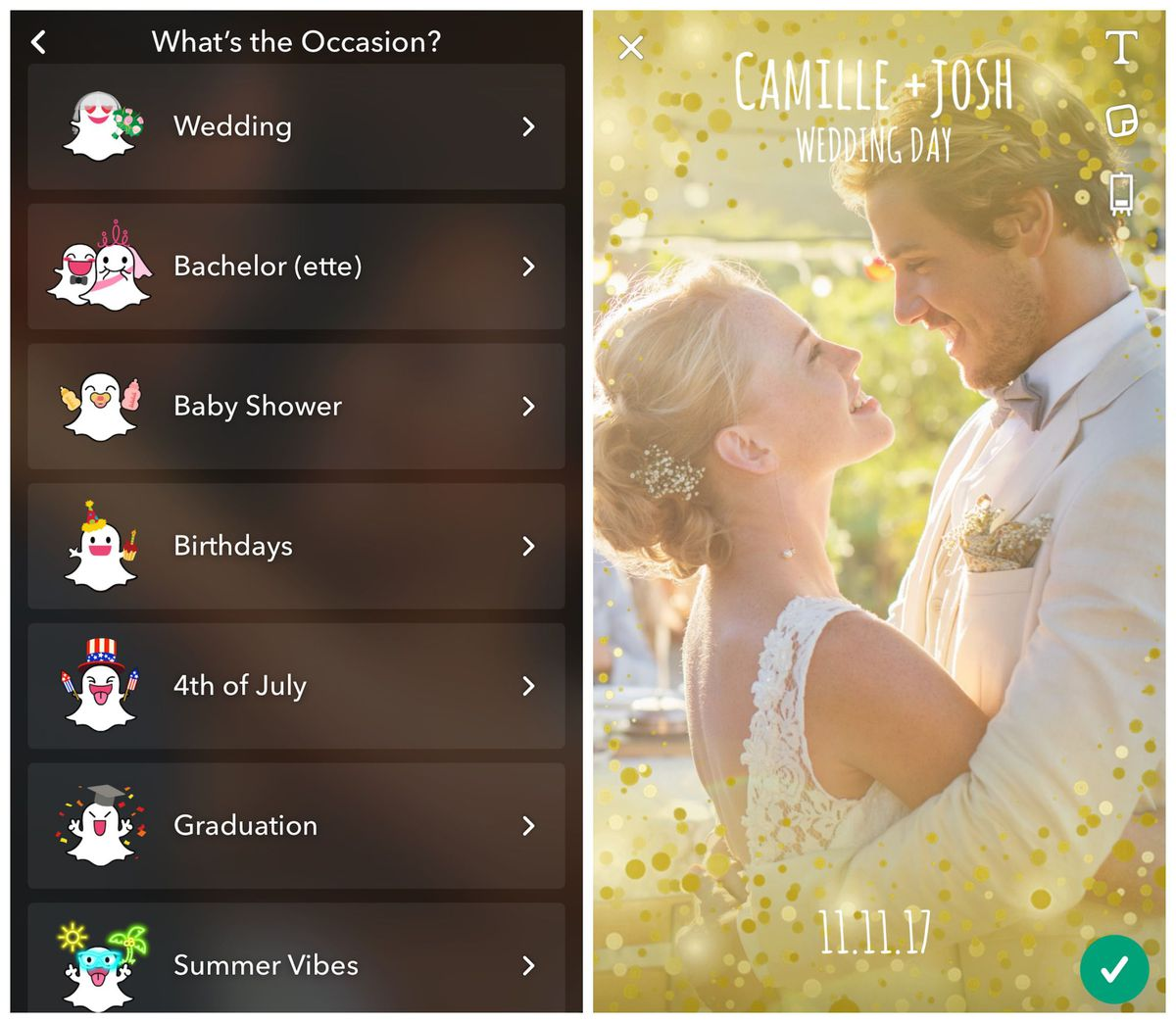 create custom Snapchat geofilters