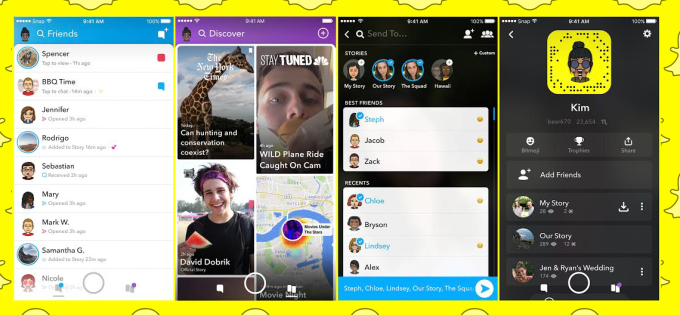 snapchat redesign new layout techcrunch