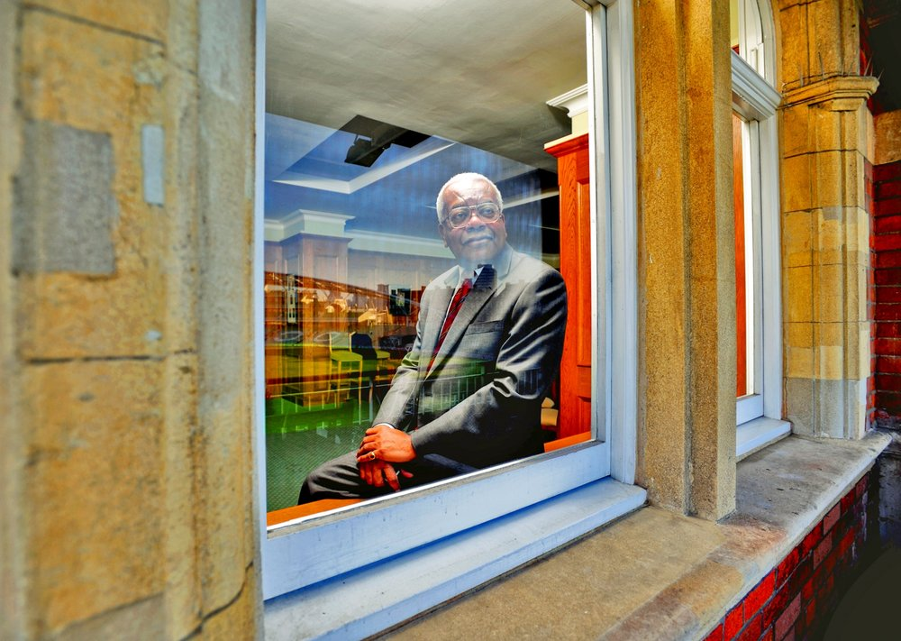 Sir Trevor McDonald, OBE by John Ferguson