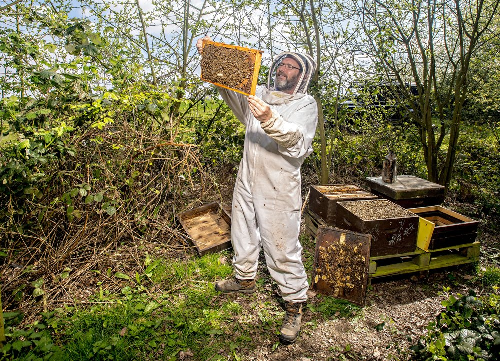 Bee Keeper and Honey producer, Michael Coe