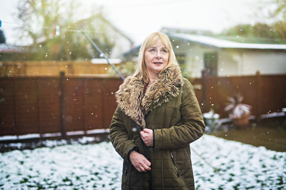 Carolyn Allum and the first days of snow 2018