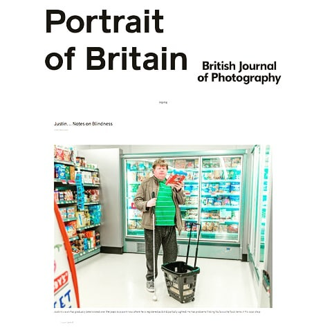 I'm thrilled to have been honoured in The British Journal of Photography's Portrait of Britain 2018 Awards with my portrait of Justin, taken from my 'Notes on Blindness' series.  #portraitofbritain #socialdocumentary  #documentaryportraiture #documentaryphotography #photography #reallives #society  #blindness #partiallysighted #charitywork  #charities #hasselblad #lupolighting
