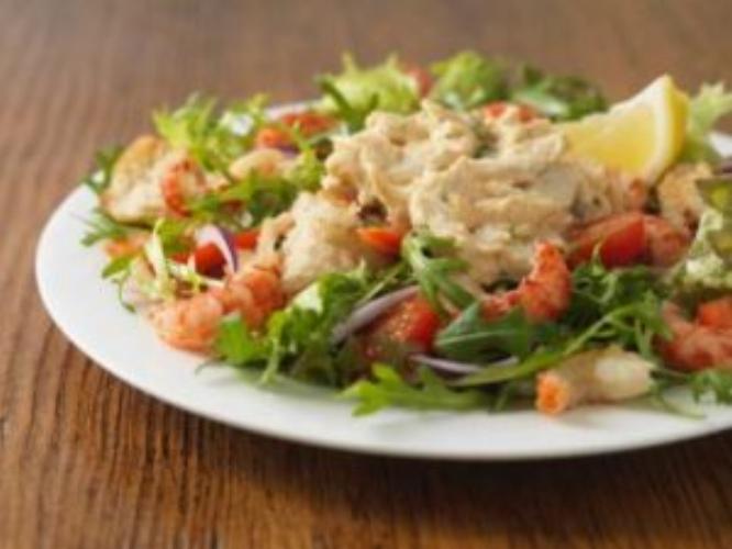 Crawfish and Arugula Salad