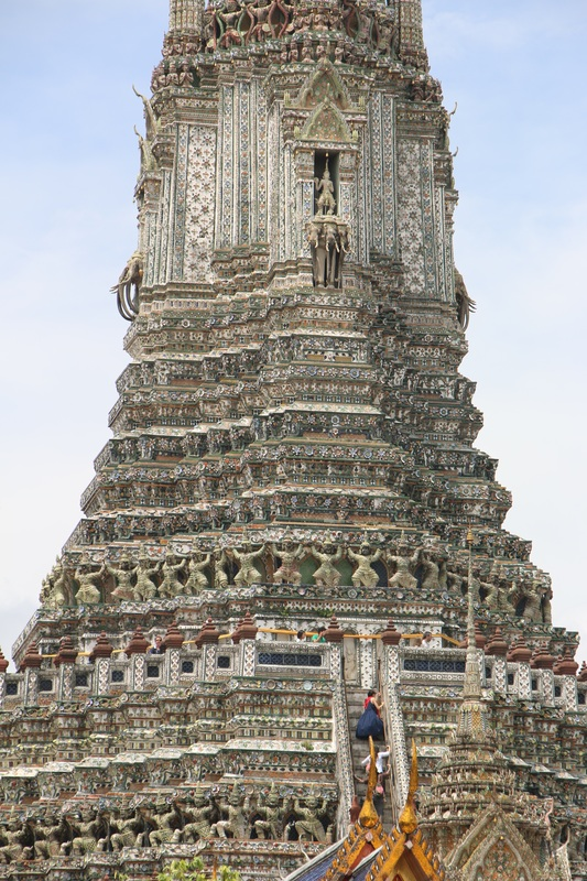 "The beautiful Wat Arun. ""Wat"" means temple in Thai."