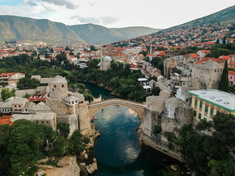 Stari Most (drone view)