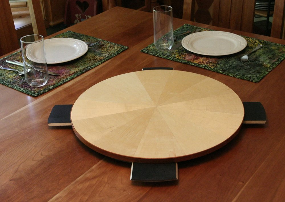 18 inch SpinAndServe on Extended base - Remember that every SpnAndServe is veneered on each side!