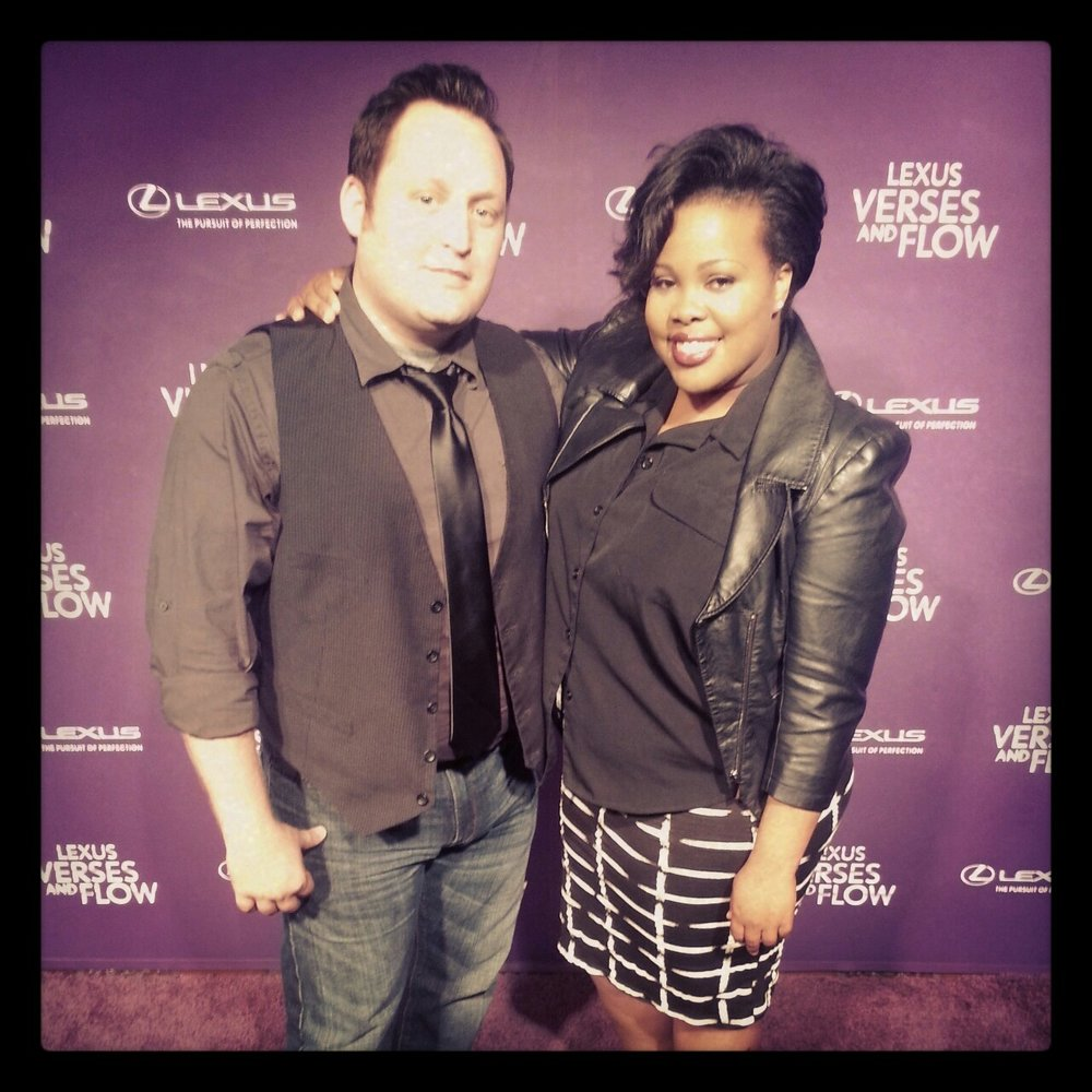 Live by Music's Rusty Felbob with musical Guest Amber Riley at Verses and Flow