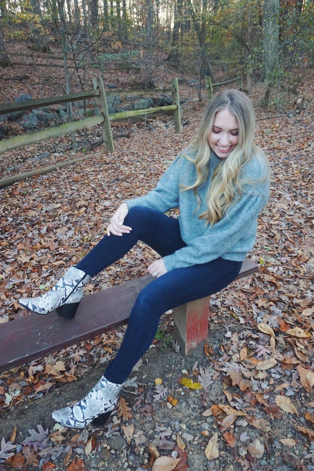 Boots:  here  ( similar ) ( similar ) / Jeans:  here  / Sweater: ( similar ) ( similar )