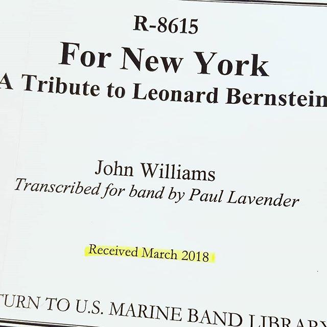 "John Williams today. 48-channel surround recording of ""For New York"" with the Marine Band. #filmscore #johnwilliams #nyc #composer #recordingsession #recordingengineer #marineband #nyc #nova #newmusic #scoringsession #surroundsound #transcription #paullavender @mergingtech @sennheiser"