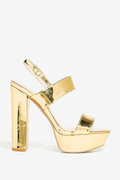 Collection Here Agaci Met Gold- Heels Beat It Platform Block Heel INSOLE Buckle Chunky back strap Chunky block heel 75418989.jpg