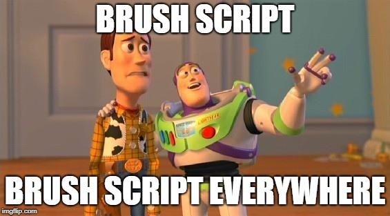"""Brush script. Brush script everywhere"""