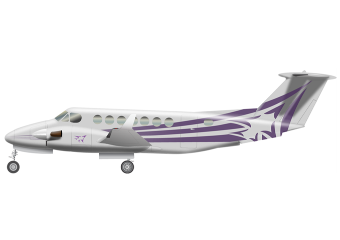 Beechcraft King Air 300 / King Air 350Passengers (typical): 8Cabin Height: 4.8 ftCabin Width: 4.5 ftCabin Length: 16.7 ft / 19.5 ftBaggage total: 54 cu ft / 55 cu ftAverage Cruising Speed: 276 KTASMax Cruising Altitude: 35,000 ftFull Passenger Range: 1,480 NM / 1,635 NMLavatory: LimitedGalley: Limited - © 2018, Conklin & de Decker Associates, Inc.
