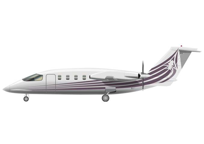 Piaggio Avanti P180 / Avanti P180 IIPassengers (typical): 6Cabin Height: 5.8 ftCabin Width: 6.1 ftCabin Length: 14.6 ftBaggage total: 60.2 cu ftAverage Cruising Speed: 354 KTAS / 363 KTASMax Cruising Altitude: 41,000 ftFull Passenger Range: 980 NMLavatory: YesGalley: Yes - © 2018, Conklin & de Decker Associates, Inc.